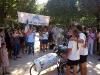 Arrivée Tour du Monde Tandem Handbike