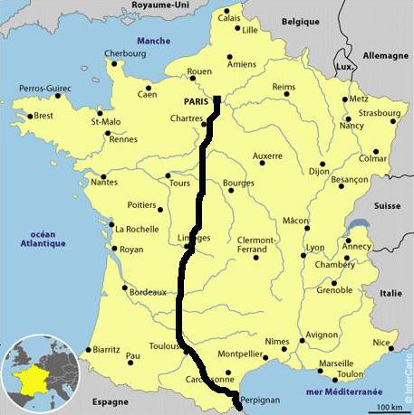 carte espagne itineraire