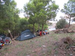 Camping près de la frontière espagnole