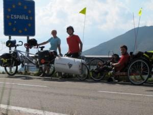 Grégoire, Sibylle et Baptiste à la frontière entre la France et l'Espagne !