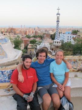 De gauche à droite : Baptiste, Grégoire, Sibylle